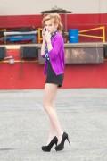 Bella Thorne - On a Movie Set 3/22/14 (very leggy)