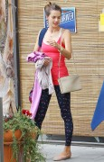 Alessandra Ambrosio - leaving yoga class in Brentwood - 03/23/14