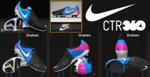 Download PES 2014 Nike CTR360 Maestri III ACC FG Cleats - Black/Photo Blue/Pink