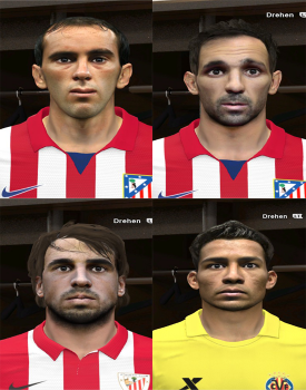 Download PES 2014 BBVA Mini Facepack 2 by rednik