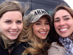 Hayden Panettiere at Fort Campbell on March 27, 2014