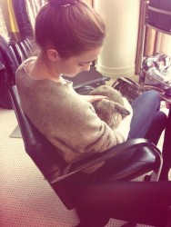Emma Watson With a Rabbit - 3/26/14