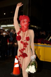 Lady Gaga - Wearing a Nude Sheer Bodysuit to the Roseland Ballroom in NYC 3/28/14
