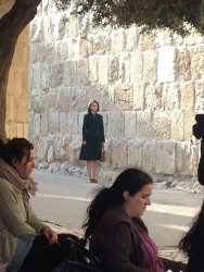 Natalie Portman filming A Tale of Love and Darkness in Jerusalem, Israel, March 23rd 2014