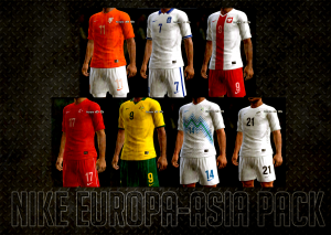 Download PES 2013 Nike Kits Europe-Asia Pack 2014 by AkmalRW