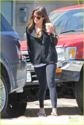 Lea Michele - Getting coffee in LA 3/31/14