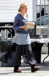 Maggie Grace - On set of 'Taken 3' in LA 4/2/14