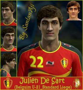 Download PES 2013 Julien De Sart Face by SantanAji