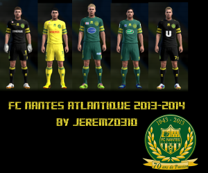 Download PES 2013 FC Nantes 13-14 Kits by jeremz0310