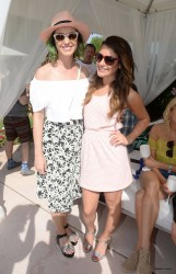 Katy Perry and Lea Michele at Lacoste Live's Pool Party at Coachella on April 12, 2014