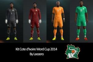 Download PES 2013 Cote d`Ivoire Word cup 2014 Kits by Leezero