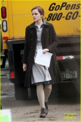 "Emma Watson - On the set of ""Regression"" in Toronto 4/15/14"