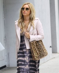 Ashley Tisdale - Arriving to an office building in Beverly Hills 4/18/14