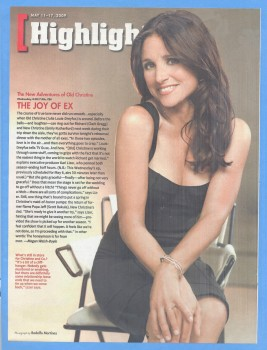 Julia Louis-Dreyfus: 2009 Magazine Scan: HQ x 1