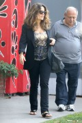 Salma Hayek - Furniture shopping in Hollywood 4/21/14