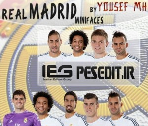 Real Madrid FIFA 2014 Minifaces By Yousef MH
