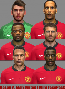 Download Pes2014 Man United Mini FacePack by Hasan A.