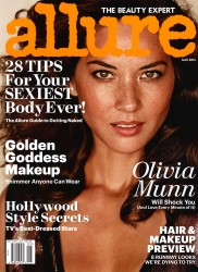 Olivia Munn x3 Allure (US) May, 2014