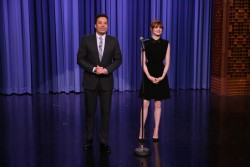 Emma Stone Tonight Show with Jimmy Fallon 4/28/14