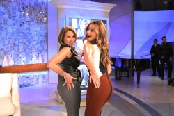 Katie Couric and Sofia Vergara Striking a Sexy Pose - 4/28/14