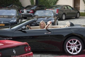 photo of Yvonne Strahovski  - car