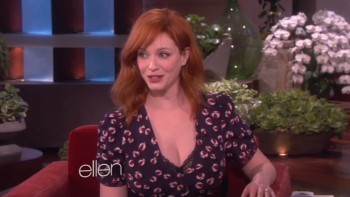 CHRISTINA HENDRICKS - BOOBs - Ellen 05,01,14