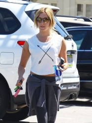 Ashley Tisdale - Leaving yoga class in Studio City 5/2/14
