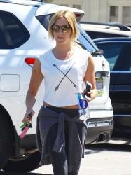 Ashley Tisdale - Leaving yoga class in Studio City 5/2/14