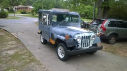 Some guys wives buy Coach Purses, Jewelry and Shoes....Mine buys an old postal jeep!  She's a keeper! 7b2c1b324248865