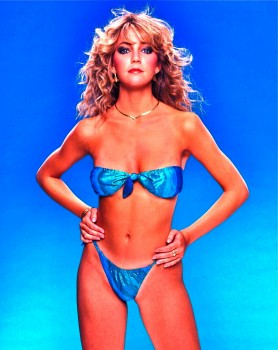 Heather Locklear: Blue Bikini - HQ x 1
