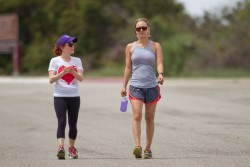 Kaley Cuoco Out Hiking in L.A. on May 5, 2014