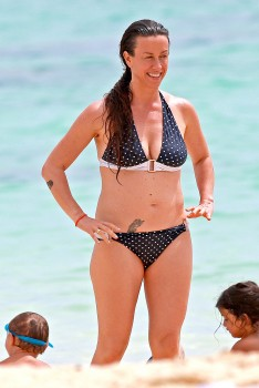 Alanis Morissette - wearing a bikini at a beach in Hawaii 05/02/2014