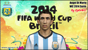 Download PES 2014 Angel Di Maria Face By DzGeNiO