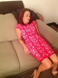 Patricia Heaton sleeping