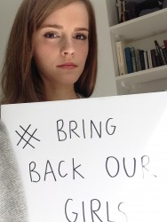 Emma Watson Supporting The Bring Back Our Girls Campaign - May 10, 2014