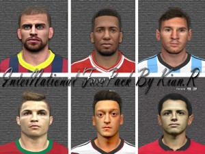 Download InterNational FacePack By Kian.R For PES 2014