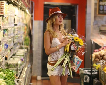 Kimberley Garner - at Whole Foods in West Hollywood 05/13/2014