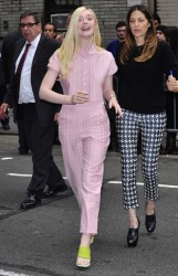 Elle Fanning - Arriving to The 'Late Show With David Letterman' in NYC 5/14/14