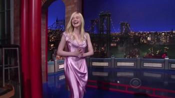 ELLE FANNING - HOT - Late Show 05,14,14