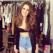 Laura Marano - Bikini top and shorts Twitpic