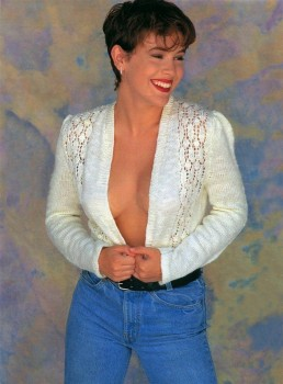Alyssa Milano: Early 90's Shoot - Big Cleavage - HQ x 2