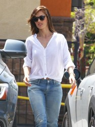 Minka Kelly - Donating clothes in West Hollywood 5/19/14