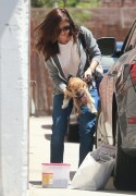 Minka Kelly - Dropping off her dog at Go Dog LA Daycare 5/20/14