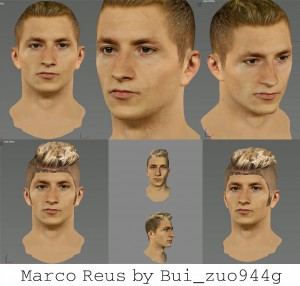 Marco Reus Face FIFA 14 - Dortmund by bui_zuo944g