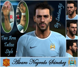 Alvaro Negredo HD (Update Tattoo) by santanAji