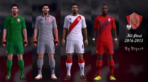 Pro Evolution Soccer 2013 Kit Perú 2014-2015 by Bryan9