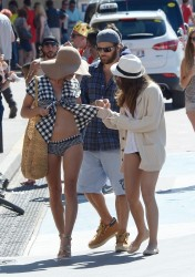 Pamela Anderson - Wearing a swimsuit in Cannes 5/24/14