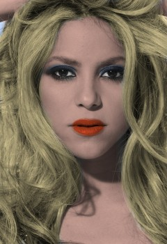 Shakira - 1 nice Picture - Colored by me