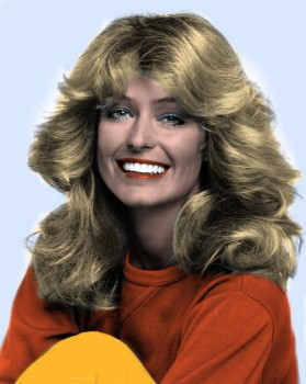Farrah Fawcett - B/W Picture - Colored by me