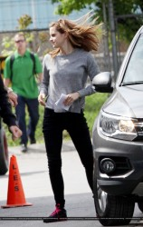 Emma Watson on the set of Regression in Toronto on May 29, 2014